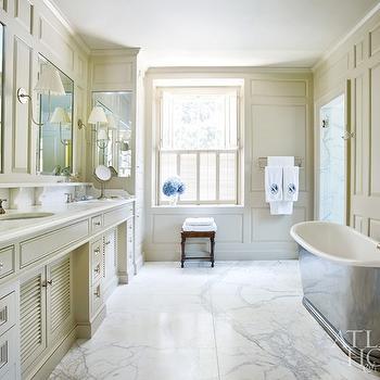 beige Bathroom Cabinets, Country, bathroom, Atlanta Homes & Lifestyles