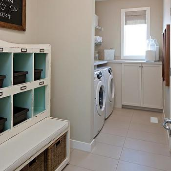 Vintage Laundry Room Storage, Transitional, laundry room, Cardel Designs