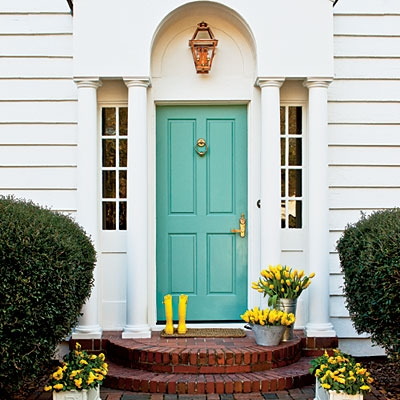 Yellow front door design decor photos pictures ideas inspiration paint colors and remodel - Front door color ideas inspirations can use ...