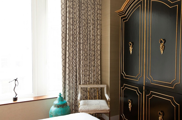 Black and Gold French Armoire - French - bedroom - Carlyle Designs