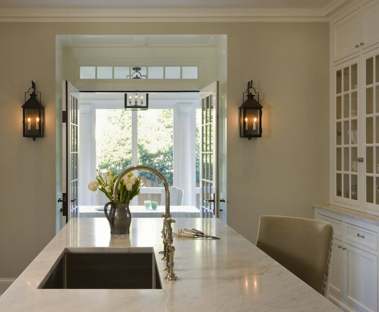 Mirrored Doors Country Entrance Foyer Veranda Interiors