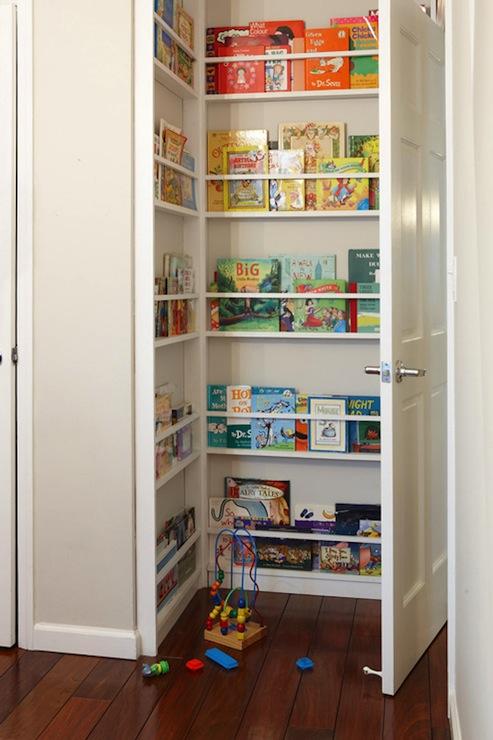 hidden children 39 s bookcase transitional nursery design sponge. Black Bedroom Furniture Sets. Home Design Ideas