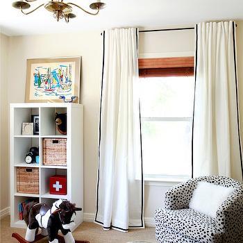 Ikea Window Treatments, Vintage, nursery, Benjamin Moore Frappe, Design Crisis