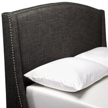 Grey Wingback Upholstered Headboard Full/Queen : Target