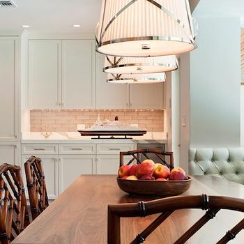 Tufted Banquette, Transitional, dining room, Hillary Littlejohn Scurtis