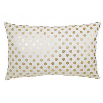 Caitlin Wilson Textiles: Gold Polka Dot Pillow