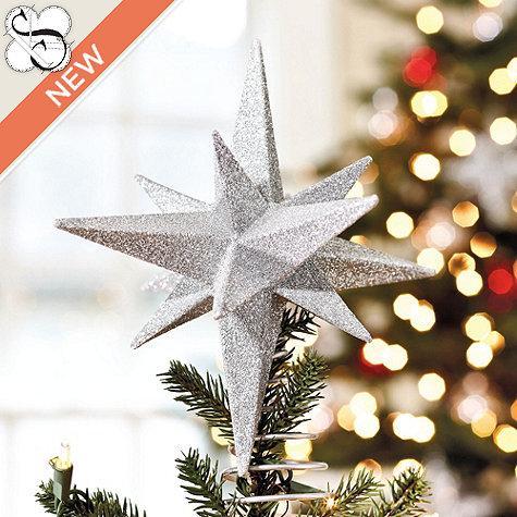Suzanne kasler glittered star tree topper ballard designs