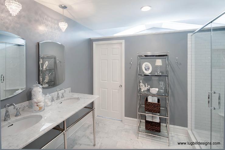 Bathroom Vanity With Center Tower Design Ideas