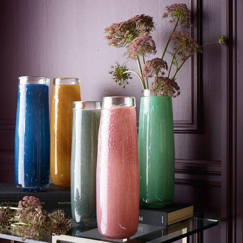 Simple Tall Glass Tapered Vases