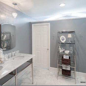 Grey Bathroom, Transitional, bathroom, Lugbill Designs