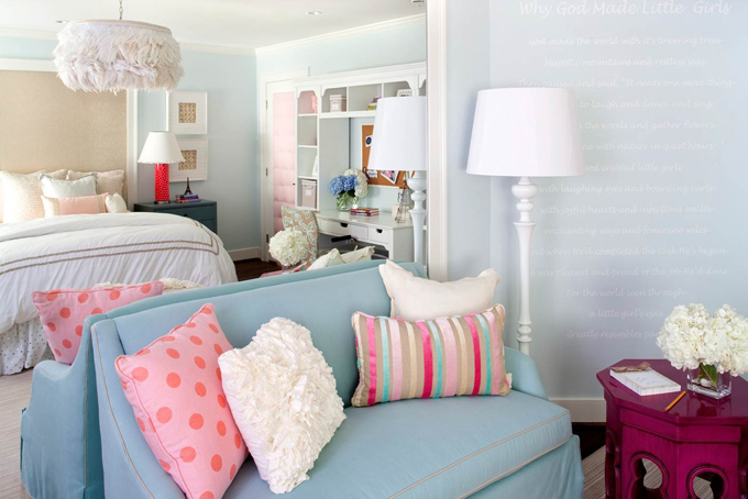 Couches For Bedrooms Contemporary Girl 39 S Room