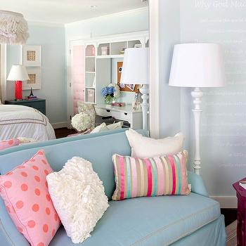 Couches for Bedrooms, Contemporary, girl's room, Benjamin Moore In Your Eyes, Kristin Peake Interiors