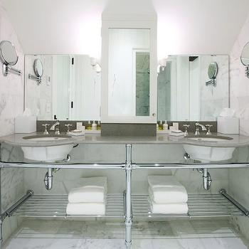 Double Sink Console, Transitional, bathroom, Washington School House Hotel
