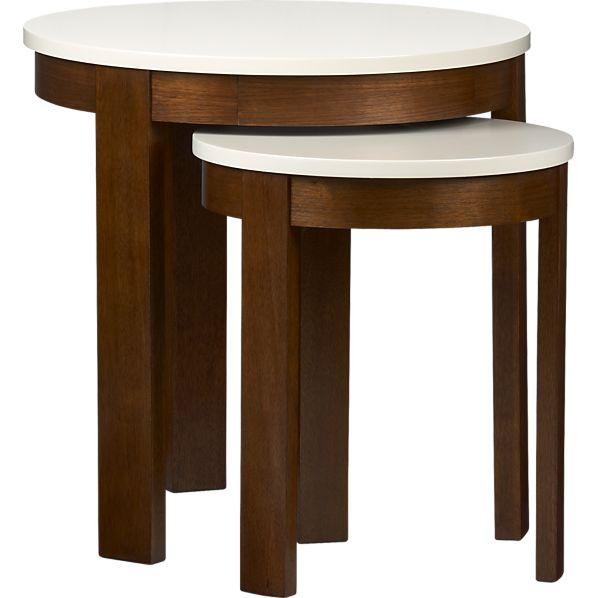 Set Of 2 Pastis Nesting Side Tables Crate And Barrel