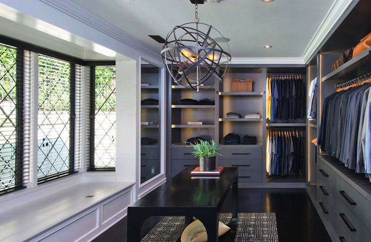 Mens Walk In Closet Contemporary Closet Jeff Lewis