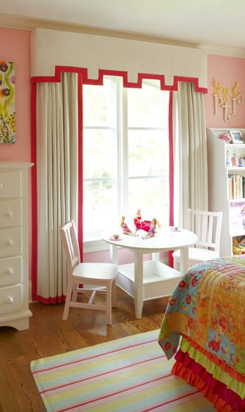 Pink Candy Stripe Curtains Design Ideas