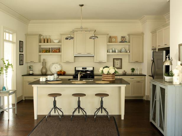 Ivory Kitchen Cabinets Cottage Kitchen KMH Interiors