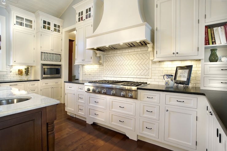 herringbone backsplash transitional kitchen kristin