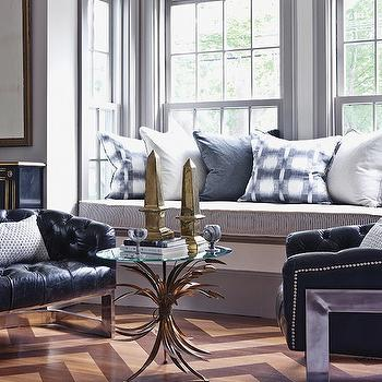 Built-In Window Seat, Eclectic, living room, New England Home