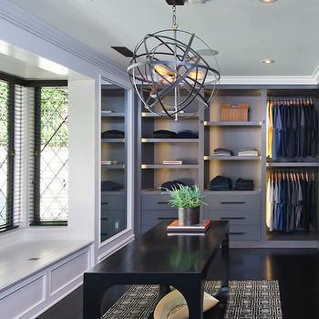 Jeff Lewis Design · Mens Walk-In Closet & Interior design inspiration photos by Jeff Lewis Design.