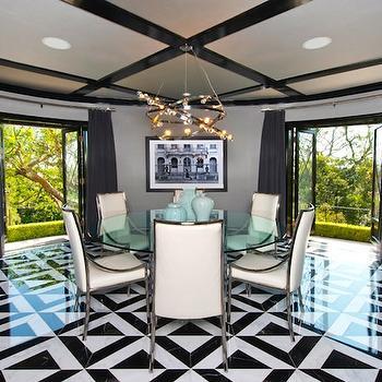 Jeff Lewis Design Circular Dining Room
