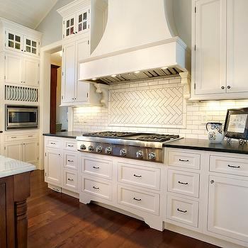 Herringbone Backsplash, Transitional, kitchen, Kristin Petro Interiors