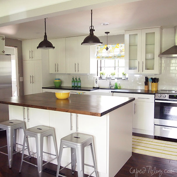 Kitchen Remodel White: Ikea Adel White Cabinets Design Ideas