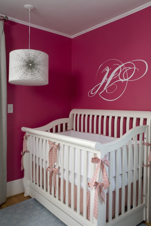 Hot Pink Nursery Contemporary Nursery Benjamin Moore