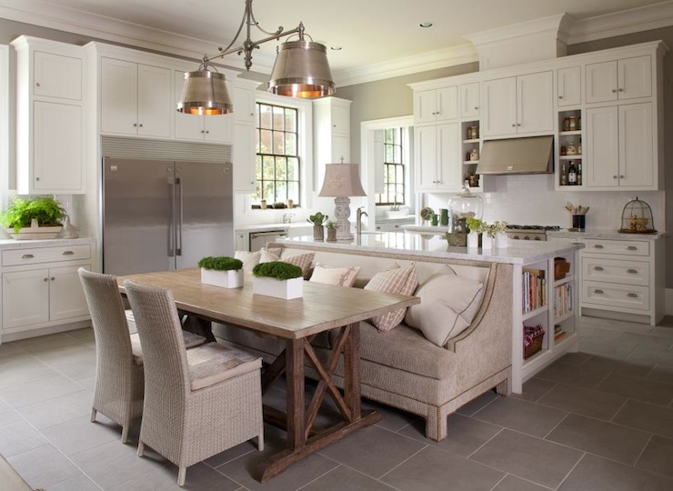 Gourmet kitchen transitional kitchen michael j for What kind of paint to use on kitchen cabinets for sofa size wall art