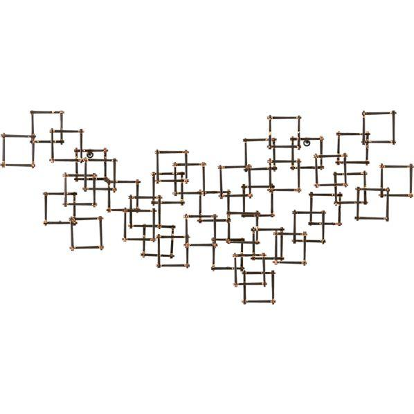 Squares Nail Wall Art   Crate And Barrel