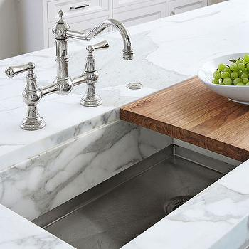 Sliding Cutting Board Sink, Traditional, kitchen, Traditional Home