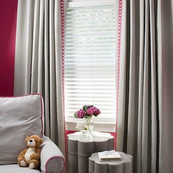 Pink and Gray Nursery Design, Contemporary, nursery, Benjamin Moore Peony, Liz Carroll Interiors