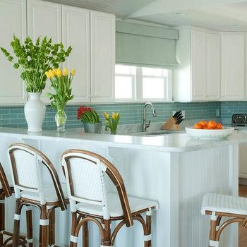 White and Blue KItchen, Cottage, kitchen, Liz Carroll Interiors