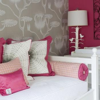 Pink and Gray Nursery, Contemporary, nursery, Benjamin Moore Peony, Liz Carroll Interiors