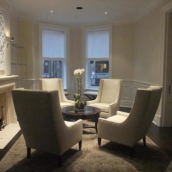 Circular Furniture Arrangement, Transitional, living room, Carr Warner Architects