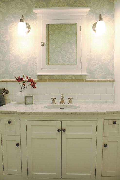 White Medicine Cabinet Country Bathroom Svz Interior