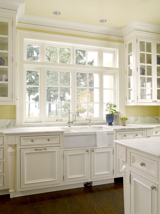 Yellow Kitchen With White Cabinets | Inset Kitchen Cabinets Traditional Kitchen Sullivan Conard