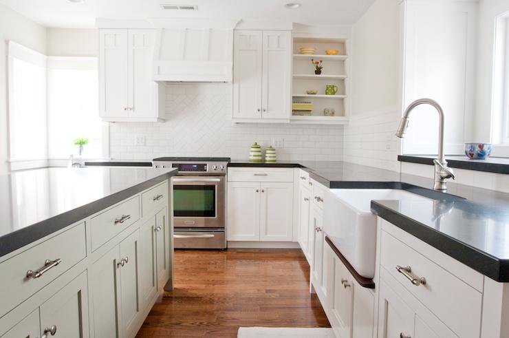 Herringbone Subway Tile Backsplash - Transitional - kitchen - Tiek ...