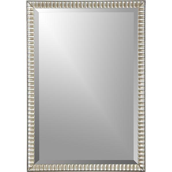 Silver Ripple Wall Mirror Crate and Barrel