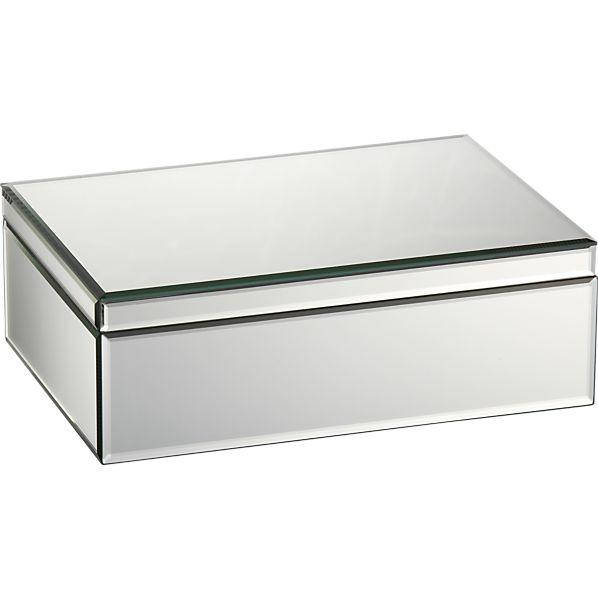 Mitzie mirrored jewelry box crate and barrel for Mirror jewellery box
