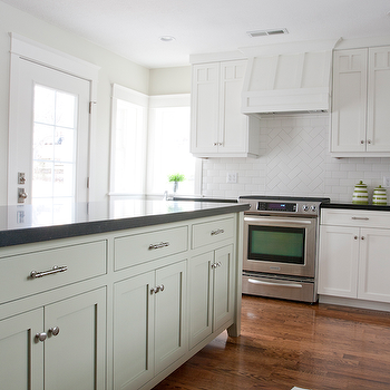 Long Kitchen Island , Transitional, kitchen, Tiek Built Homes