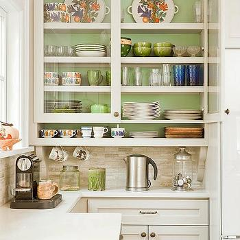 White and Green Kitchen, Contemporary, kitchen, Benjamin Moore Warm Springs, Renewal Design Build