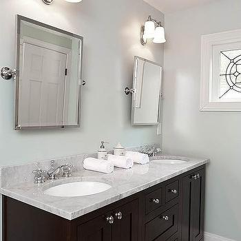 Espresso Double Vanity, Transitional, bathroom, Renewal Design Build
