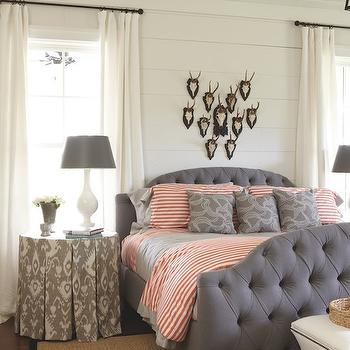 Purple Headboard, Cottage, bedroom, Sherry Hart Designs