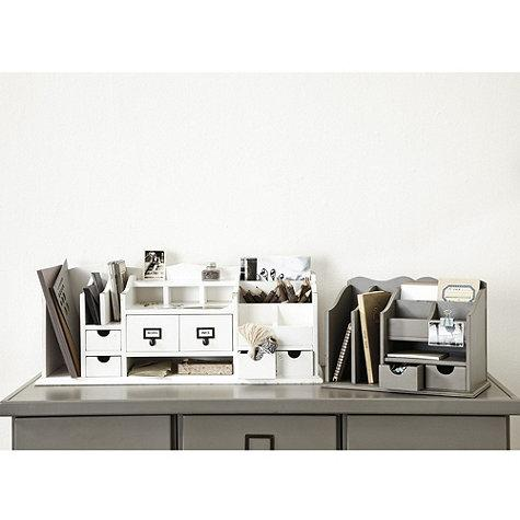 Original home office desk organizers ballard designs - Desk organizer white ...