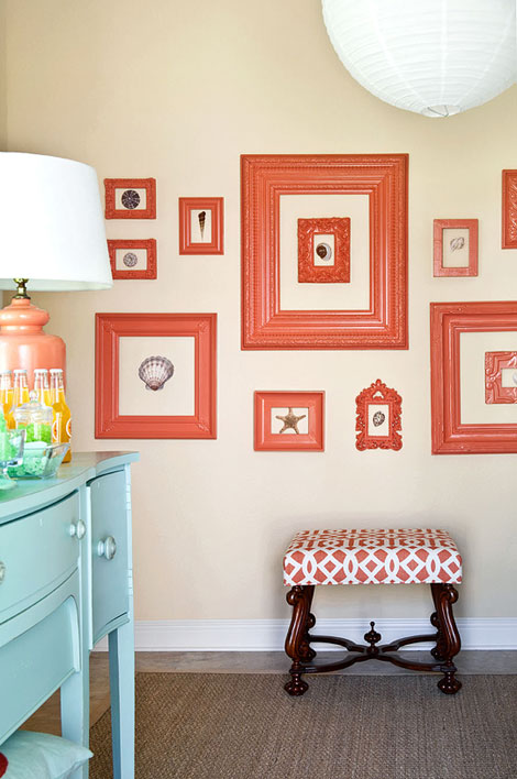 Coral Pink And Aqua Blue Design Ideas