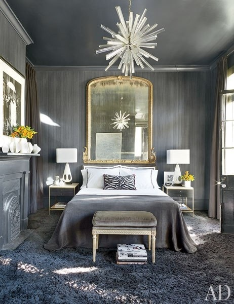 Gray Bedroom Eclectic Bedroom Architectural Digest