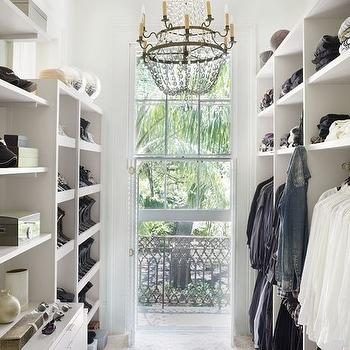 Walk-In Closet Shelves, French, closet, Architectural Digest