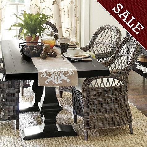 Chianni Trestle Table Ballard Designs