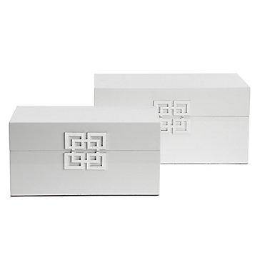 Z Gallerie Ming Boxes Set Of 2 White